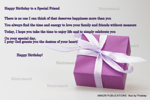 Happy Birthday to a Special Friend