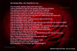 My Darling Wife, I Am Thankful for You - Copy